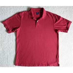 Red polo shirt by Arrow.